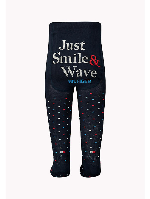 TOMMY HILFIGER TH BABY SMILE TIGHT 1P - MIDNIGHT BLUE - TOMMY HILFIGER Clothing - detail image 1