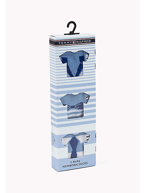TOMMY HILFIGER TH BABY DRESSED GIFTBOX 3P - BABY BLUE - TOMMY HILFIGER Clothing - detail image 1