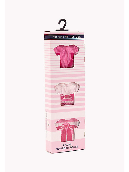 TOMMY HILFIGER TH BABY DRESSED GIFTBOX 3P - PINK LADY - TOMMY HILFIGER Clothing - detail image 1