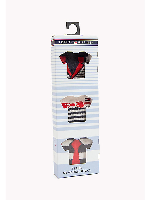 TOMMY HILFIGER TH BABY DRESSED GIFTBOX 3P - MIDNIGHT BLUE - TOMMY HILFIGER Clothing - detail image 1