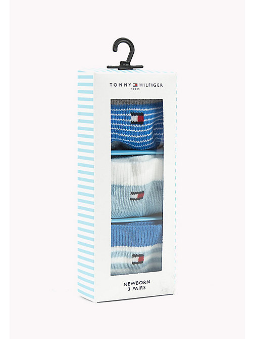 TOMMY HILFIGER TH BABY NEWBORN GIFTBOX 3P - BABY BLUE - TOMMY HILFIGER Clothing - main image
