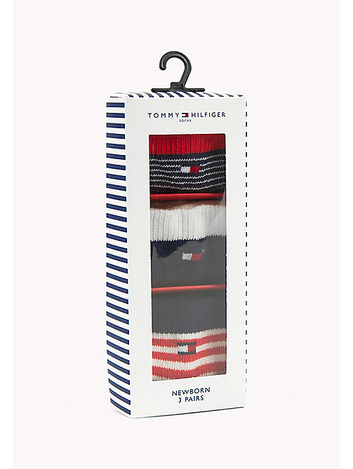 TOMMY HILFIGER TH BABY NEWBORN GIFTBOX 3P - MIDNIGHT BLUE - TOMMY HILFIGER Clothing - main image