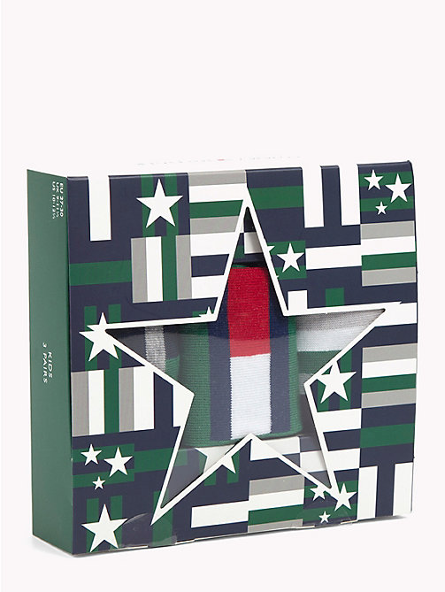 TOMMY HILFIGER 3-Pack Kids' Socks Gift Box - JEANS - TOMMY HILFIGER Underwear & Socks - detail image 1