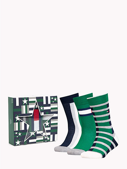 TOMMY HILFIGER 3-Pack Kids' Socks Gift Box - JEANS - TOMMY HILFIGER Underwear & Socks - main image