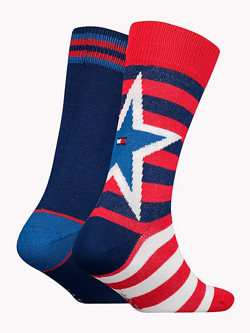 TOMMY HILFIGER 2-Pack Kids' Star And Stripe Socks - TOMMY ORIGINAL - TOMMY HILFIGER Underwear & Socks - detail image 1