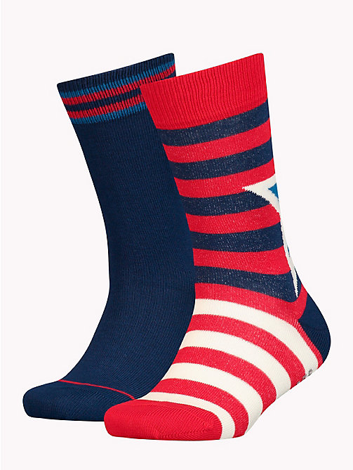 TOMMY HILFIGER 2-Pack Kids' Star And Stripe Socks - TOMMY ORIGINAL - TOMMY HILFIGER Underwear & Socks - main image