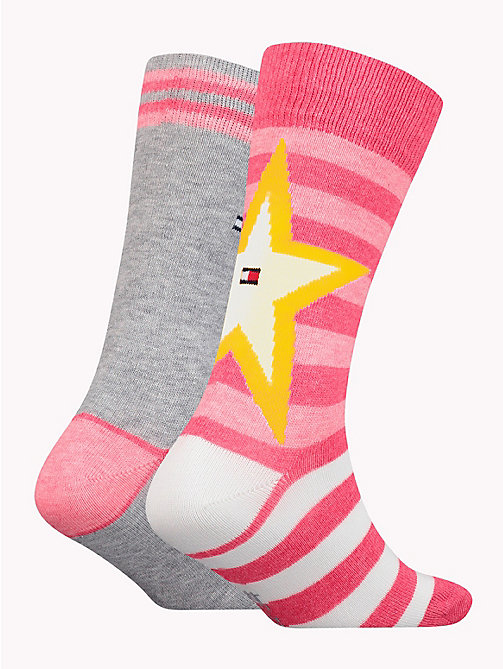 TOMMY HILFIGER 2-Pack Kids' Star And Stripe Socks - ROSE MELANGE - TOMMY HILFIGER Underwear & Socks - detail image 1