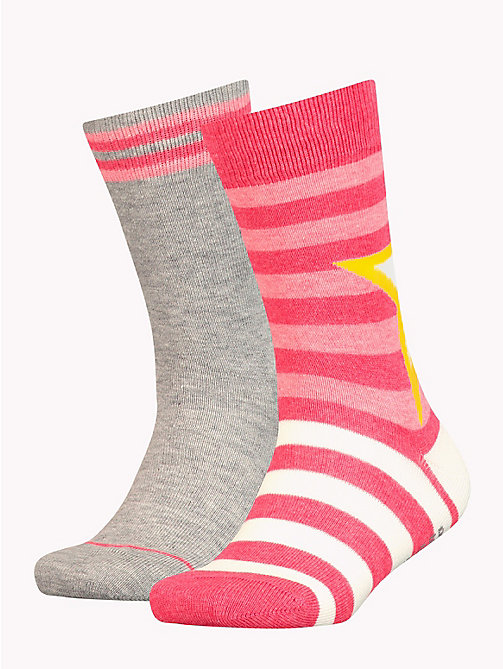 TOMMY HILFIGER 2-Pack Kids' Star And Stripe Socks - ROSE MELANGE - TOMMY HILFIGER Underwear - main image