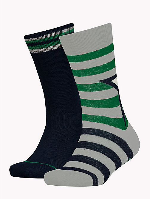 TOMMY HILFIGER 2-Pack Kids' Star And Stripe Socks - MIDNIGHT BLUE - TOMMY HILFIGER Underwear & Socks - main image