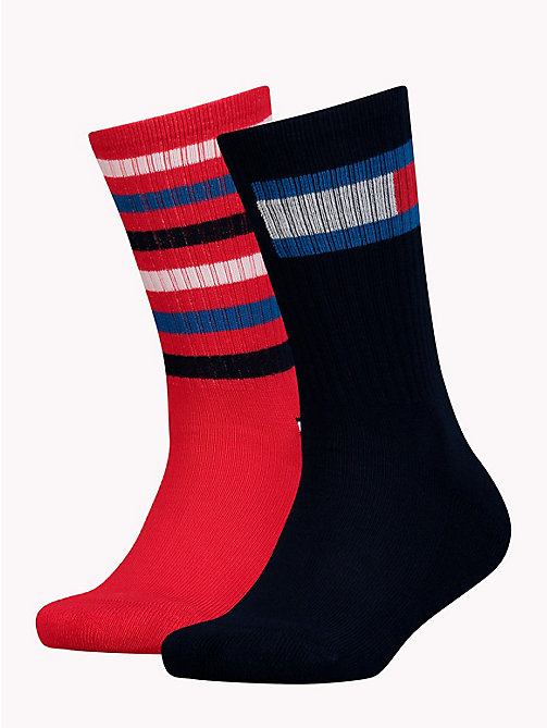 TOMMY HILFIGER 2-Pack Kids' Stripe Socks - MIDNIGHT BLUE - TOMMY HILFIGER Underwear & Socks - main image