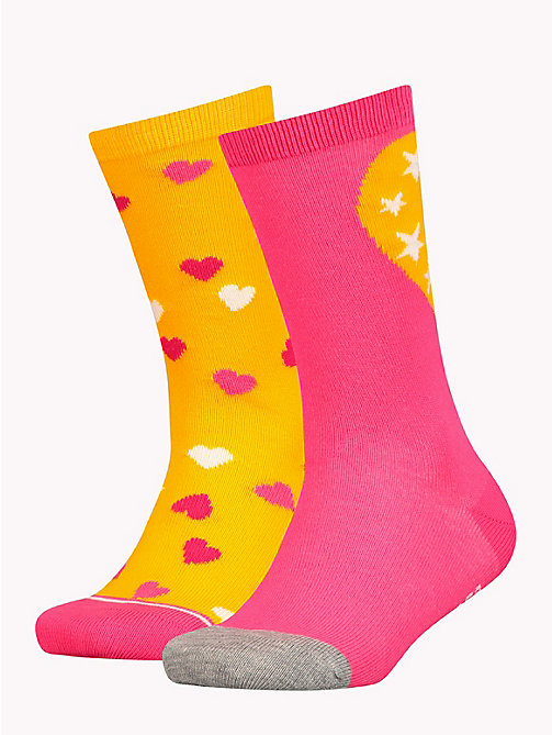 TOMMY HILFIGER 2-Pack Girls' Heart Socks - TOMMY ORIGINAL - TOMMY HILFIGER Underwear & Socks - main image