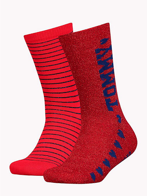 TOMMY HILFIGER 2-Pack Girls' Glitter Socks - TOMMY ORIGINAL - TOMMY HILFIGER Underwear - main image