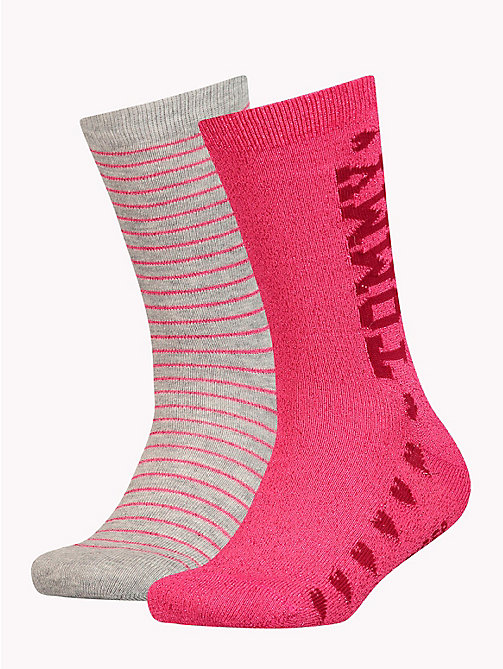 TOMMY HILFIGER 2-Pack Girls' Glitter Socks - ROSE MELANGE - TOMMY HILFIGER Underwear & Socks - main image