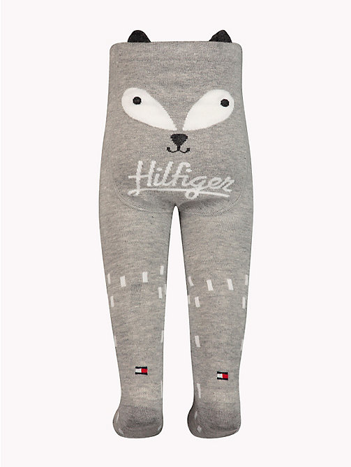 TOMMY HILFIGER Baby Animal Tights - MIDDLE GREY MELANGE - TOMMY HILFIGER Boys - detail image 1