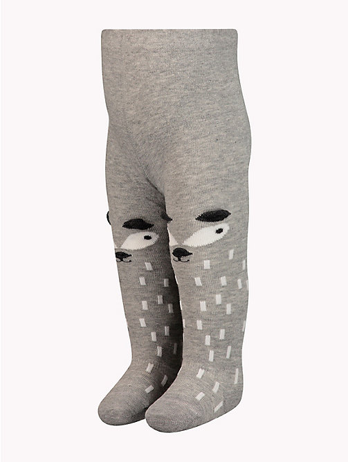 TOMMY HILFIGER Baby Animal Tights - MIDDLE GREY MELANGE - TOMMY HILFIGER Boys - main image