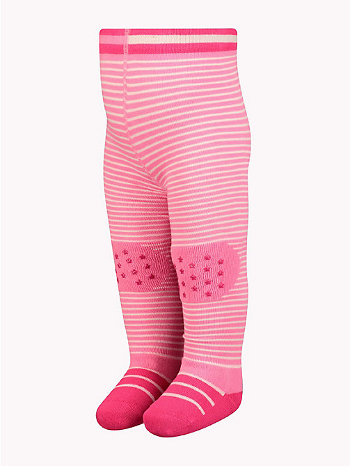TOMMY HILFIGER Baby Stars And Stripes Tights - ROSE MELANGE - TOMMY HILFIGER Girls - main image
