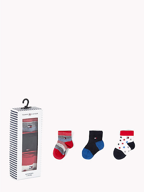TOMMY HILFIGER 3-Pack Newborn Socks - TOMMY ORIGINAL - TOMMY HILFIGER Boys - main image