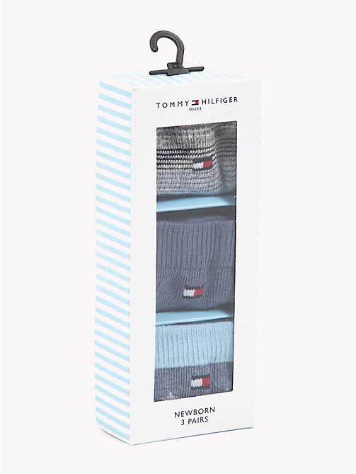 TOMMY HILFIGER 3-Pack Newborn Socks - MIDNIGHT BLUE - TOMMY HILFIGER Boys - detail image 1