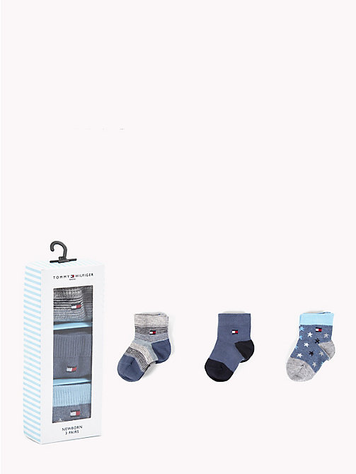 TOMMY HILFIGER 3-Pack Newborn Socks - MIDNIGHT BLUE - TOMMY HILFIGER Boys - main image