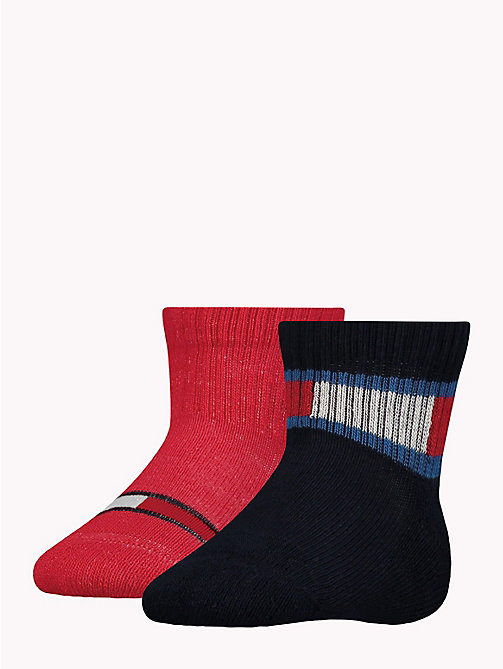 TOMMY HILFIGER 2-Pack Baby Logo Socks - MIDNIGHT BLUE -  Boys - main image