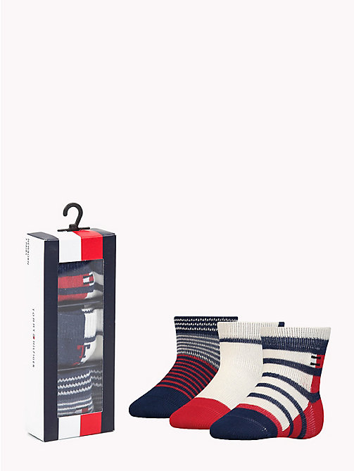 TOMMY HILFIGER 3-Pack Baby Stripe Socks - TOMMY ORIGINAL -  Boys - main image