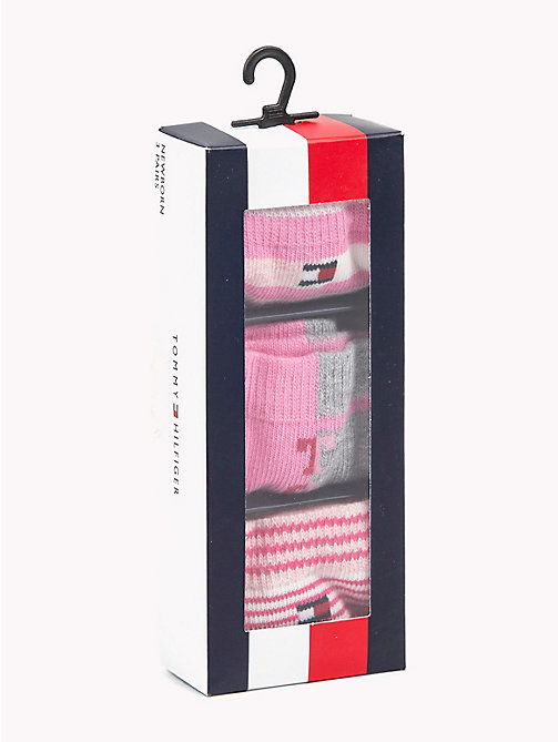 TOMMY HILFIGER 3-Pack Baby Stripe Socks - ROSE MELANGE -  Girls - detail image 1