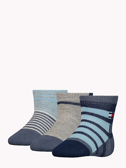 TOMMY HILFIGER 3-Pack Baby Stripe Socks - MIDNIGHT BLUE - TOMMY HILFIGER Boys - detail image 1