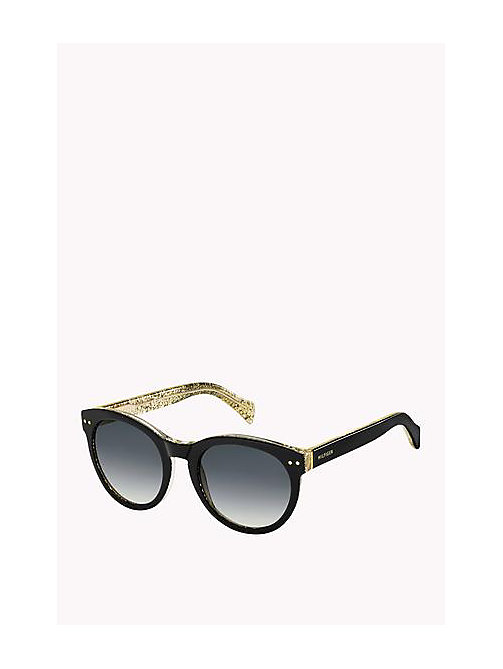 TOMMY HILFIGER Retro Sunglasses - BLACK GLITTER - TOMMY HILFIGER Sunglasses - main image
