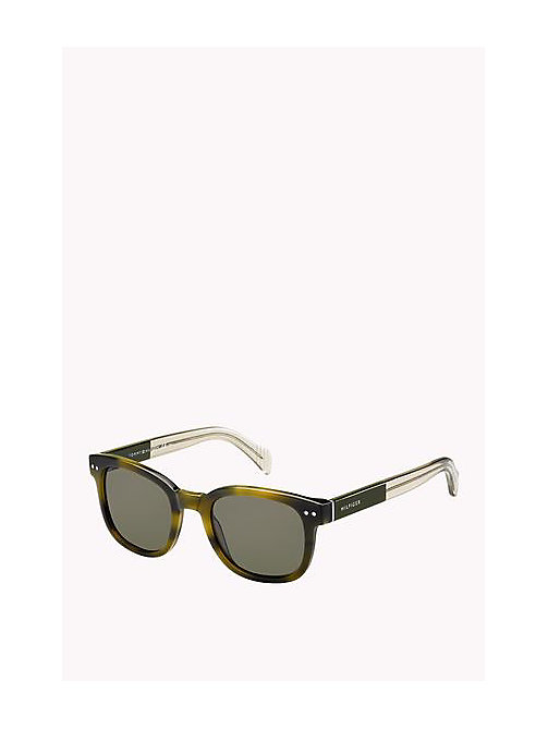 TOMMY HILFIGER Boston Sunglasses - GREEN HAVANA GREY - TOMMY HILFIGER Sunglasses - main image