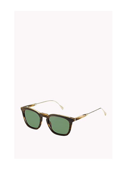 TOMMY HILFIGER Acetate Sunglasses - HORN GOLD - TOMMY HILFIGER Sunglasses - main image