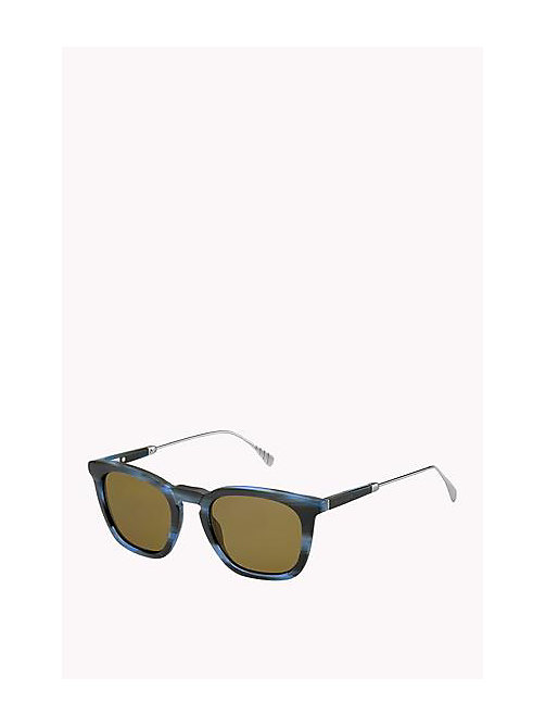 TOMMY HILFIGER Acetate Sunglasses - BLUE HORN RUTHENIUM - TOMMY HILFIGER Sunglasses - main image
