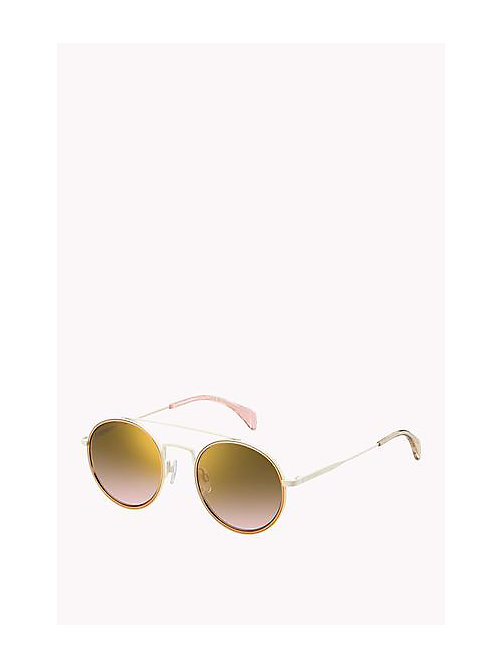 Stainless Steel Sunglasses - CREAM - TOMMY HILFIGER Girls - main image