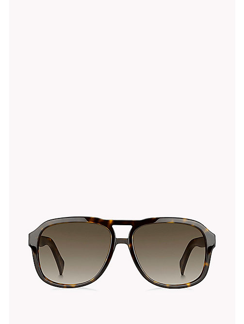TOMMY HILFIGER Aviator Sunglasses - DARK HAVANA/BROWN SHADED - TOMMY HILFIGER Sunglasses - detail image 1