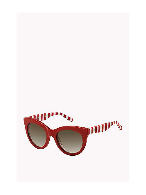 Cat Eye Sunglasses - RED/BROWN SHADED - TOMMY HILFIGER Bags & Accessories - main image