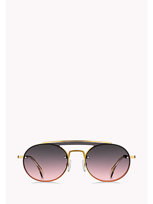 TOMMY HILFIGER Round Sunglasses - YELL GOLD/GREY FUCHSIA - TOMMY HILFIGER Sunglasses - detail image 1