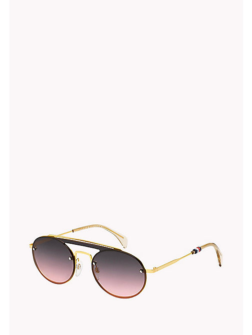TOMMY HILFIGER Round Sunglasses - YELL GOLD/GREY FUCHSIA - TOMMY HILFIGER Sunglasses - main image