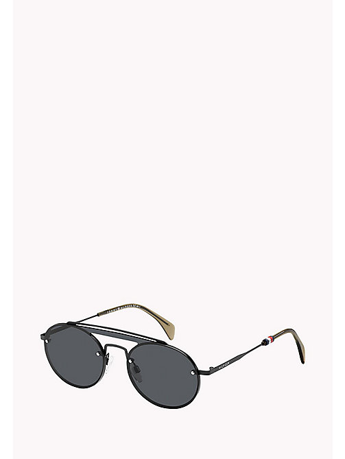 TOMMY HILFIGER Round Sunglasses - MTT BLACK/GREY BLUE - TOMMY HILFIGER Sunglasses - main image