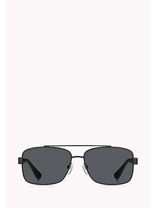 TOMMY HILFIGER Navigator Sunglasses - MTT BLACK/GREY BLUE - TOMMY HILFIGER Sunglasses - detail image 1