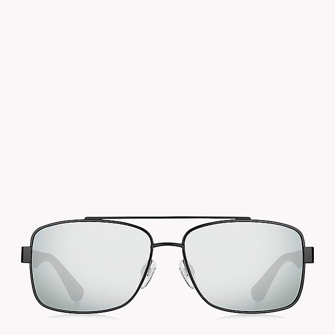 TOMMY HILFIGER Navigator Sunglasses - MTT BLACK/GREY BLUE - TOMMY HILFIGER Men - detail image 1