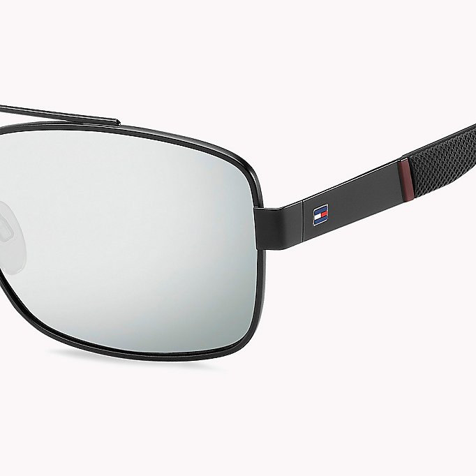TOMMY HILFIGER Navigator Sunglasses - MTT BLACK/GREY BLUE - TOMMY HILFIGER Men - detail image 2