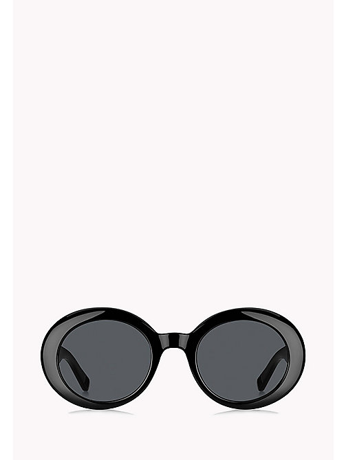 TOMMY HILFIGER Oval Sunglasses - BLACK / GREY BLUE - TOMMY HILFIGER Sunglasses - detail image 1