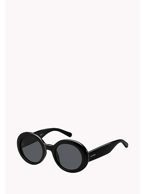 TOMMY HILFIGER Oval Sunglasses - BLACK / GREY BLUE - TOMMY HILFIGER Sunglasses - main image