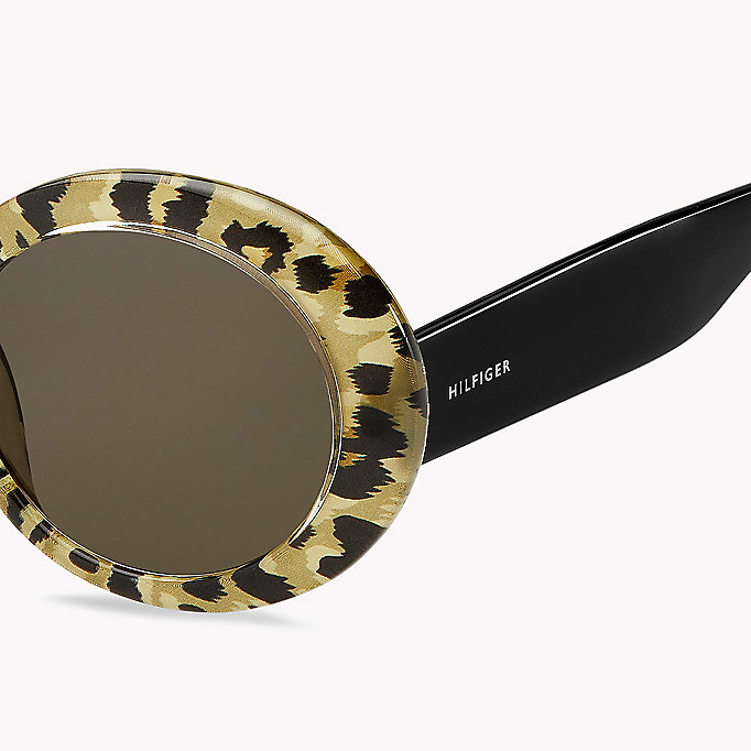 TOMMY HILFIGER Oval Sunglasses - BLACK / GREY BLUE - TOMMY HILFIGER Women - detail image 2