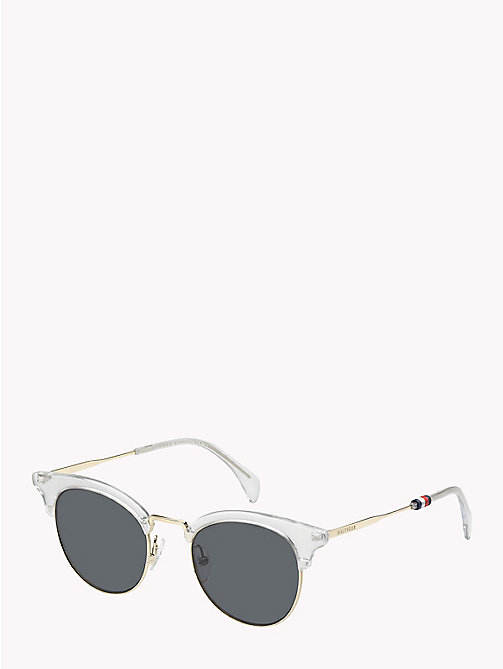 TOMMY HILFIGER Cat-Eye Sunglasses - CRYSTAL / GREY BLUE - TOMMY HILFIGER Sunglasses - main image
