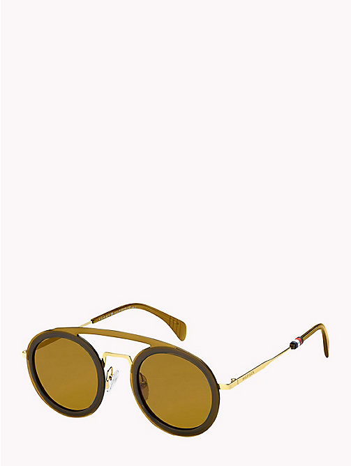 TOMMY HILFIGER Round Aviator Sunglasses - BEIGE / BROWN - TOMMY HILFIGER Sunglasses - main image