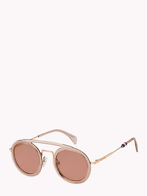 TOMMY HILFIGER Round Aviator Sunglasses - PINK / BURGUNDY - TOMMY HILFIGER VACATION FOR HER - main image