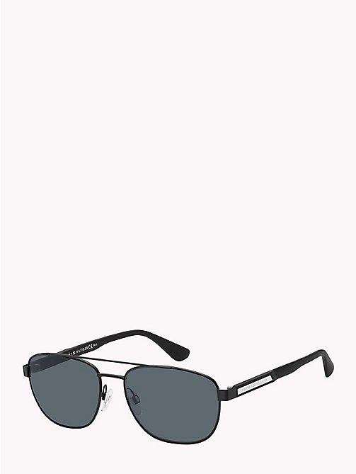 TOMMY HILFIGER Aviator Sunglasses - BLACK / GREY BLUE - TOMMY HILFIGER Sunglasses - main image