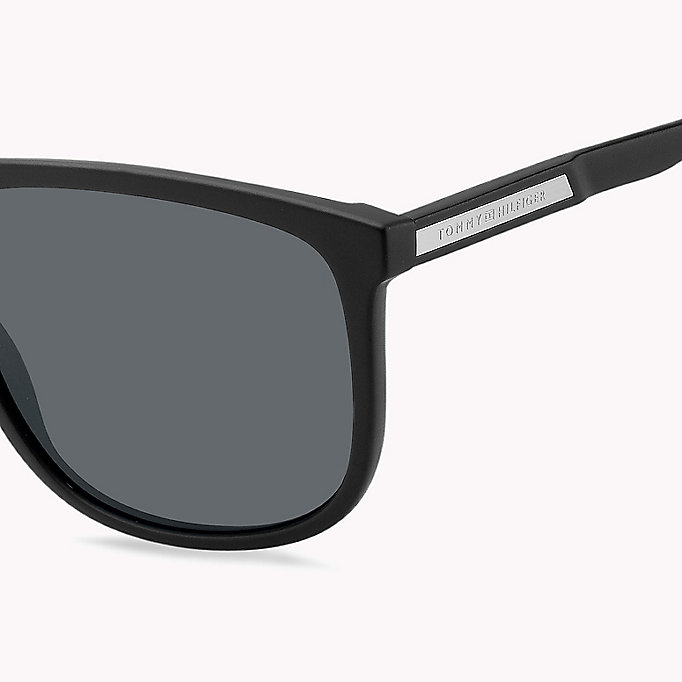 TOMMY HILFIGER Large Frame Classic Sunglasses - DARK HAVANA/BROWN SHADED - TOMMY HILFIGER Men - detail image 2