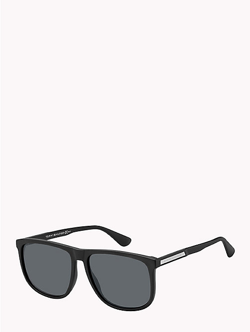 TOMMY HILFIGER Large Frame Classic Sunglasses - MATTE BALCK / GREY BLUE - TOMMY HILFIGER Bags & Accessories - main image