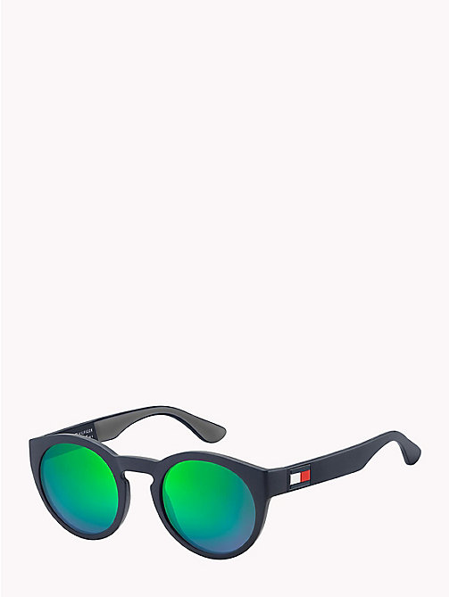 TOMMY HILFIGER Notched Nose Bar Sunglasses - BLUE GREEN / GREEN MULTILAYER - TOMMY HILFIGER Bags & Accessories - main image